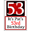 PERSONALIZED 53 YEAR OLD YARD SIGN PARTY SUPPLIES