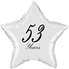 53 YEARS CLASSY BLACK STAR BALLOON PARTY SUPPLIES