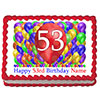 53RD BIRTHDAY BALLOON BLAST EDIBLE IMAGE PARTY SUPPLIES
