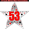 53RD SILVER STAR DECORATION PARTY SUPPLIES