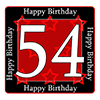 54TH BIRTHDAY COASTER PARTY SUPPLIES