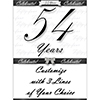 54 YEARS CLASSY BLACK DOOR BANNER PARTY SUPPLIES