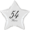 54 YEARS CLASSY BLACK STAR BALLOON PARTY SUPPLIES
