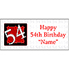 PERSONALIZED 54 YEAR OLD BANNER PARTY SUPPLIES