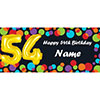 BALLOON 54TH BIRTHDAY CUSTOMIZED BANNER PARTY SUPPLIES