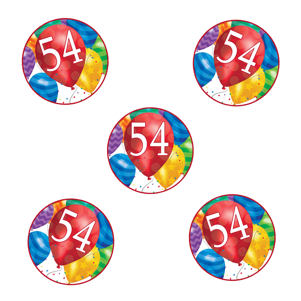 Click for larger picture of 54TH BIRTHDAY BALLOON BLAST DECO FETTI PARTY SUPPLIES