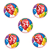 54TH BIRTHDAY BALLOON BLAST DECO FETTI PARTY SUPPLIES