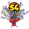54TH BIRTHDAY BALLOON CENTERPIECE PARTY SUPPLIES