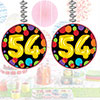54TH BIRTHDAY BALLOON DANGLER 3/PKG PARTY SUPPLIES
