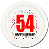 54TH BIRTHDAY DESSERT PLATE 8-PKG PARTY SUPPLIES