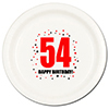 54TH BIRTHDAY DINNER PLATE 8-PKG PARTY SUPPLIES