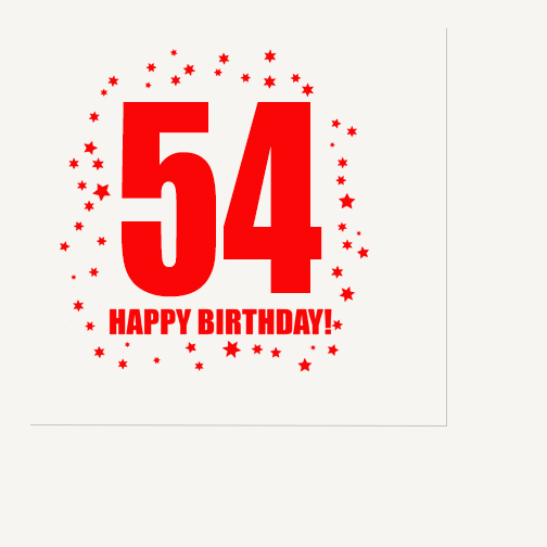 Click for larger picture of 54TH BIRTHDAY LUNCHEON NAPKIN 16-PKG PARTY SUPPLIES
