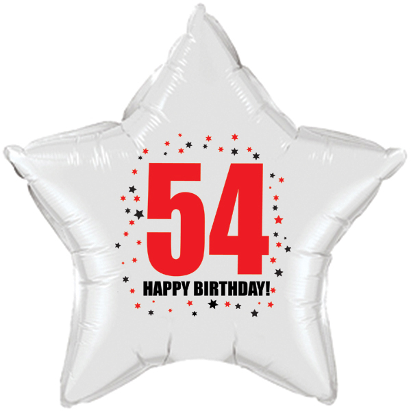 Click for larger picture of 54TH BIRTHDAY STAR BALLOON PARTY SUPPLIES