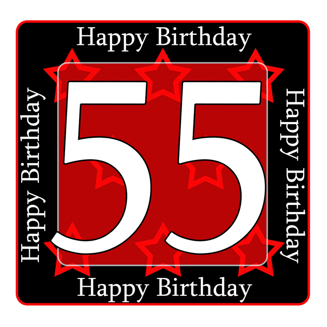 Click For Larger Picture Of 55TH BIRTHDAY COASTER PARTY SUPPLIES