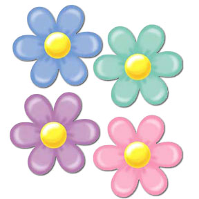 DISCONTINUED RETRO FLOWER DECORATION PARTY SUPPLIES