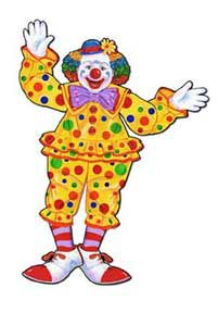 Click for larger picture of CLOWN DECORATION JOINTED (30IN.) PARTY SUPPLIES