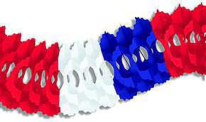 Click for larger picture of PKGD ARCADE GARLAND RED/ WHITE/ BLUE 5IN PARTY SUPPLIES