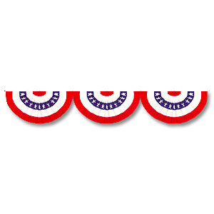 Click for larger picture of BUNTING R/W/B CUTOUT PARTY SUPPLIES