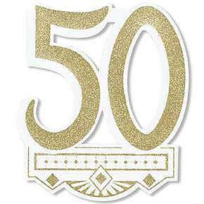 50th anniversary party decorations 50th anniversary crest decoration