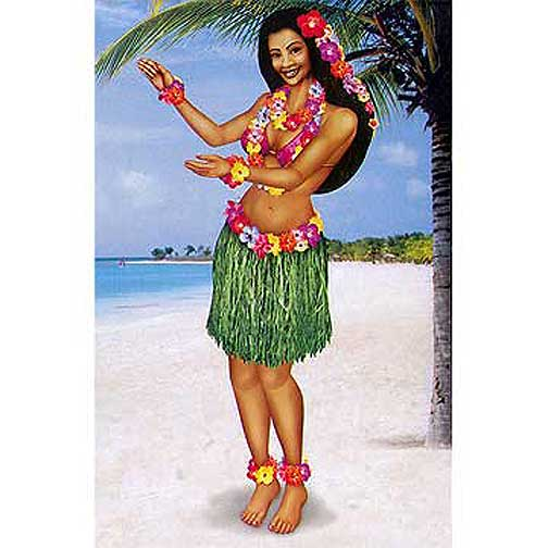 Click for larger picture of HULA GIRL JOINTED (38 INCH) PARTY SUPPLIES