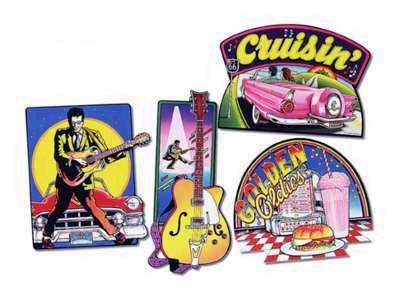 ROCK N ROLL CUTOUTS (16IN.-4CT) PARTY SUPPLIES