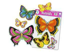 Click for larger picture of BUTTERFLY PUNCHOUT DECORATIONS (7 CT.) PARTY SUPPLIES