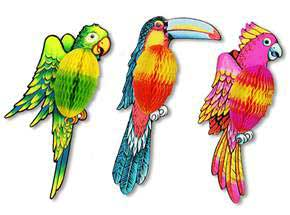 Click for larger picture of EXOTIC TISSUE BIRD (17IN.) PARTY SUPPLIES