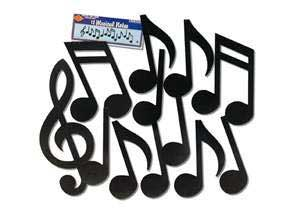Click for larger picture of MUSIC NOTES BLACK PARTY SUPPLIES