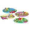HAWAIIAN SIGN CUTOUTS (48/CASE) PARTY SUPPLIES