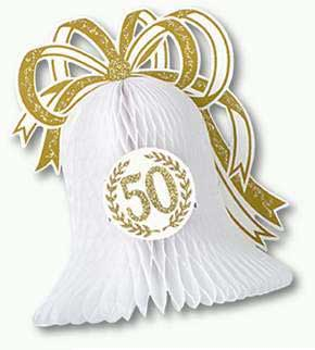 Click for larger picture of 50TH ANNIVERSARY CENTERPIECE 10IN. (1/PK PARTY SUPPLIES