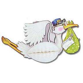 Click for larger picture of DISCONTINUED FLYING STORK (21IN.) PARTY SUPPLIES