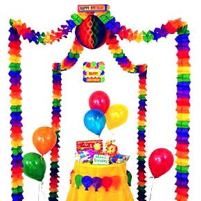 Click for larger picture of BIRTHDAY PARTY CANOPY (6/CASE) PARTY SUPPLIES