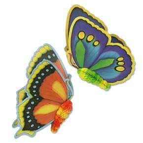 Click for larger picture of BUTTERFLIES DECORATIONS (24IN.) PARTY SUPPLIES