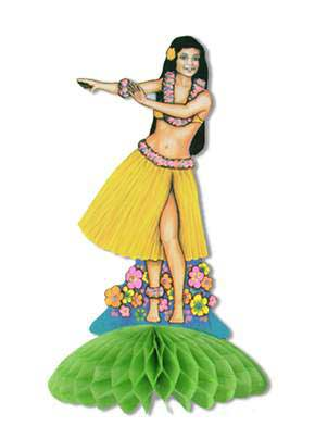 Click for larger picture of HULA GIRL CENTERPIECE PARTY SUPPLIES