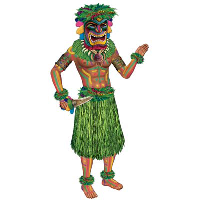 JOINTED TIKI-MAN 36IN. PARTY SUPPLIES