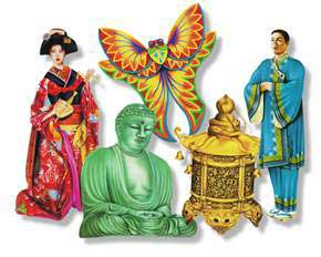 Click for larger picture of DISCONTINUED ORIENTAL CUTOUTS PARTY SUPPLIES