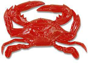 Click for larger picture of PLASTIC CRAB RED W/ORANGE PRINT 17IN. PARTY SUPPLIES