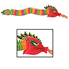 DISCONTINUED DRAGON 6' TISSUE LARGE PARTY SUPPLIES