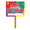 HAPPY BIRTHDAY YARD SIGN PRTD 2 SIDES 1 PARTY SUPPLIES