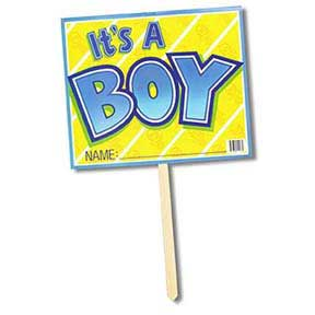 Click for larger picture of IT'S A BOY YARD SIGN PARTY SUPPLIES