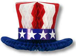 Click for larger picture of PATRIOTIC CENTERPIECE 12IN. (1/PKG) PARTY SUPPLIES
