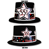 55TH BIRTHDAY TIME TO CELEBRATE TOP HAT PARTY SUPPLIES