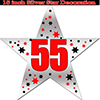 55TH SILVER STAR DECORATION PARTY SUPPLIES