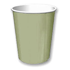 Click for larger picture of SAGE GREEN 9 OZ HOT/COLD CUP PARTY SUPPLIES