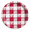 RED GINGHAM 10IN. PAPER PLATE (8 CT) PARTY SUPPLIES