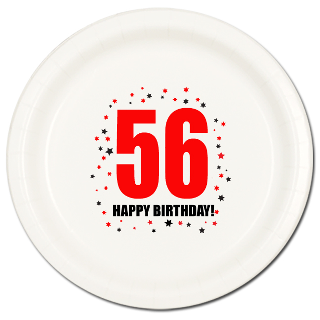56 happy birthday party supplies 56th birthday dinner. Black Bedroom Furniture Sets. Home Design Ideas