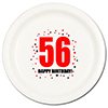 56TH BIRTHDAY DINNER PLATE 8-PKG PARTY SUPPLIES