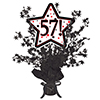 57! BLACK STAR CENTERPIECE PARTY SUPPLIES