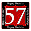 57TH BIRTHDAY COASTER PARTY SUPPLIES