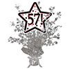 57! SILVER STAR CENTERPIECE PARTY SUPPLIES